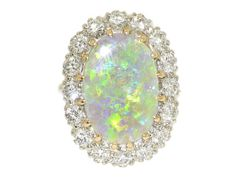 Opal and Diamond Ring in 14K