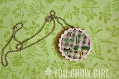 Seedlings Medallion, designed and stitched by You Grow Girl Blogger, @Gayla Trail.