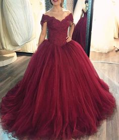 Maroon Ball Gown