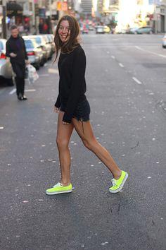 black with bright kicks