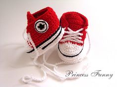 Baby crochet sneakersNewborn crochet by PrincessFunnyShop on Etsy