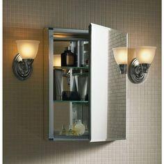 Kohler 15 In X 26 Recessed Or Surface Mount Medicine Cabinet White Powder Coat Aluminum Bathroom Remodel Ideas Pinterest