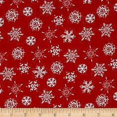 Sale Makower 100/% Cotton Fabric Christmas Traditional Festive Flourishing Trees