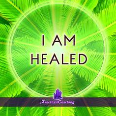 Today's Affirmation: I Am Healed <3  #affirmation #coaching