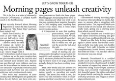 My articles are published in the Cranbrook Daily Townsman