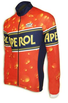 Maglia Ciclismo Manica Lunga Aperol - Store For Cycling