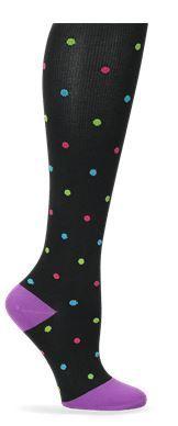 Nurse Mates Compression Trouser Socks - Bright Dot