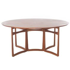 Vintage Danish Modern Teak Gateleg Table | From a unique collection of antique and modern dining room tables at https://www.1stdibs.com/furniture/tables/dining-room-tables/
