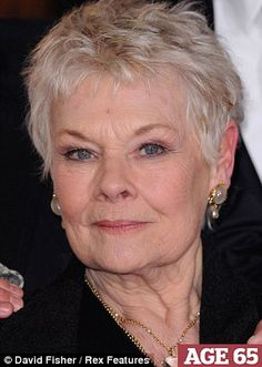 judi dench short haircut - Google Search