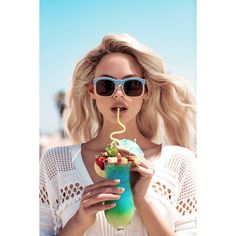 Wildfox Sunkissed Spring 2017 Victoria Germyn and Robin Marjolein by... ❤ liked on Polyvore featuring backgrounds, images, model sunglasses, models, summer and magazine