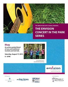 The Envision Concert in the Park Series presents Elsay August 17, 6-8PM in Mill Lake Park (Kariton Gallery Stage).
