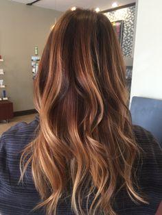 72 Brunette Hair Color Ideas in 2019 Auburn Balayage, Balayage Hair, Hair Color And Cut, Ombre Hair Color, Medium Auburn Hair, Costume Noir, Cooler Style, Rides Front, Brunette Hair