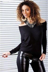 Tops donna donna nero taglia 40, comprare in linea Tops donna donna su MODATOI