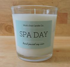 Spa Day Soy Wax Candle 9 oz Glass Tumbler by WicksEndCandleCo