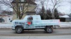 Fully Functional and Driveable Truck Made of Ice