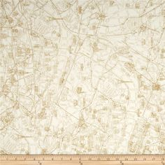 map of paris fabric for the baby's quilt