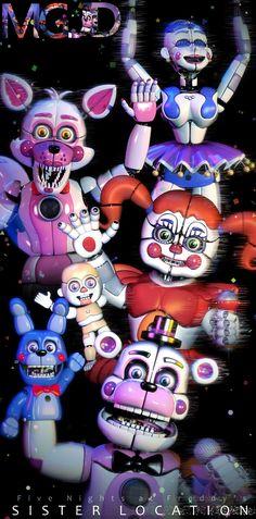 FNAF SL Pack - Character Poster by jorjimodels on DeviantArt Poster Fnafhs, Five Nights At Freddy's, Sister Location Baby, Ballora Fnaf, Fnaf Baby, Fnaf Characters, Girls Characters, Fnaf Wallpapers, Scary Games