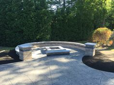 Fordson Conrete - fire pit and seating walls