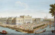 Летний дворец Елизаветы Петровны. Гравюра А. А. Грекова с рис. М. И. Махаева. 1753 г.