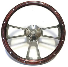 1970 -1977 Ford F100 F150 F250 F350 & Bronco Wood and Chrome Steering Wheel  Kit #ForeverSharp