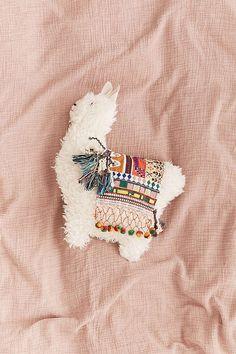 Pelziges Lama-Kissen - Handmade Home Decor - # Alpacas, Cute Pillows, Fluffy Pillows, Throw Pillows, Decor Pillows, Large Pillows, Colorful Pillows, Home Decor Accessories, Decorative Accessories