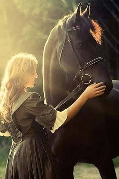 Bond between girl and horse. Enjoy lovely horse photography collection.