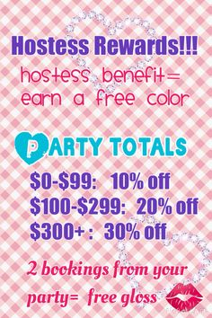 """Have a fb party and earn LipSense.  Join """"Mel's Continuous Lip Color"""" fb"""