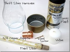 way to make a hurricane lamp for outside