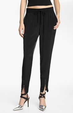 Leith Woven Zip Cuff Track Pants | Nordstrom