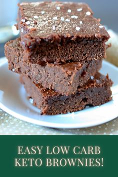 Sugar Free Brownies, Best Brownies, Fudgy Brownies, Brownie Recipes, Chocolate Recipes, Brownies From Scratch, Brownie In A Mug, Diabetic Friendly, Chocolate Lovers