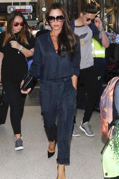 Best dressed - Victoria Beckham in a blue jumpsuit - click through to see who joins her in this week's list