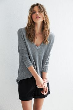 Lurex V Jumper, from hush