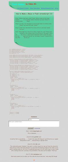Maze tutorial http://staff.pausd.org/~cbly/1web_design/6_final_11/james/make.html