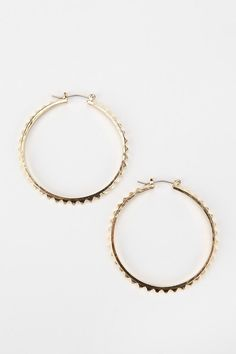 UrbanOutfitters.com > Sun-Drenched Stud Hoop Earring