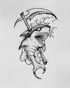 Hai Tattoos, Arrow Tattoos, Body Art Tattoos, Sleeve Tattoos, Tattoos For Guys, Tattoo Design Drawings, Tattoo Sketches, Tattoo Designs Men, Dibujos Tattoo