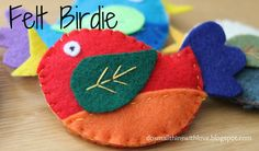 Another Felt Birdie (with another free pattern!) - Do Small Things with Love