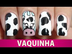 ▶ Unhas Decoradas de Vaquinha - YouTube