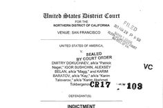 Indictment in Yahoo Data Breach Four men including two Russian intelligence agents face 47 criminal charges including conspiracy computer fraud economic espionage theft of trade secrets and aggravated identity theft. Technology