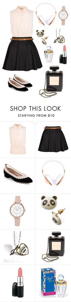 """Summer School"" by olive-seidler ❤ liked on Polyvore featuring Miss Selfridge, Boohoo, Chloé, Frends, Anne Klein, Chanel and MAC Cosmetics"