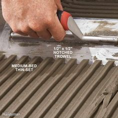 Pick a Large-Notched Trowel for Big Tile