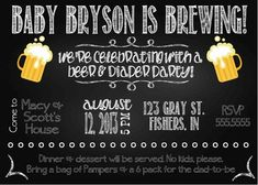diapers and beer baby shower | ... Diapers, Diapers And Beer Baby Shower, Parties Invitations, Baby