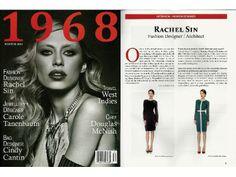 1968 Magazine interviews Rachel Sin in their Winter 2014 edition.
