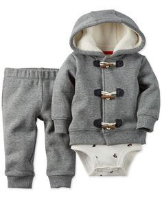 dd07da912 Carter's Baby Boys' 3-Piece Jacket, Bodysuit & Pants Set & Reviews - Sets &  Outfits - Kids - Macy's