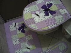 jogo de banheiro patchwork 03 peças