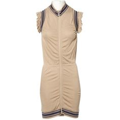 Pre-owned Jean Paul Gaultier Mid-Length Dress ($348) ❤ liked on Polyvore featuring dresses, beige, women clothing dresses, pre owned dresses, mid length dresses, jean paul gaultier dresses, preowned dresses and beige dress