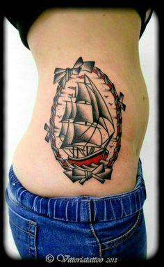 Vittoriatattoo, Gallery-Tattoo | vittoriatattoo- sailboat | tattoos by Vittoria