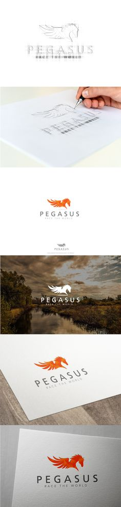 Pegasus logo design for  Fullstop.
