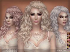 Genesis Female Hair by Stealthic at TSR via Sims 4 Updates Check more at http://sims4updates.net/hairstyles/genesis-female-hair-by-stealthic-at-tsr/