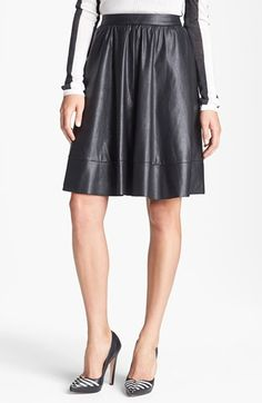 A-Line Leather Skirt.
