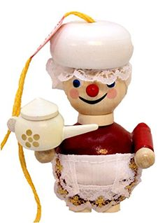 Retired Steinbach Tea Time Mrs. Claus German Wooden Christmas Ornament